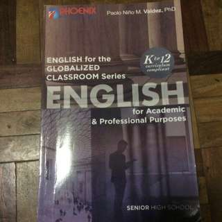 USED English for Academic Purposes Book for Grade 12