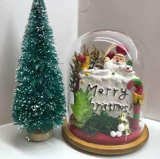 Christmas bell jar decor