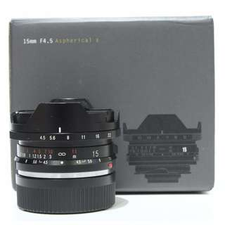 Voigtlander 15mm f4.5 Aspherical II Lens (M-Mount)