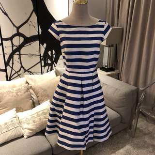 Kate Spade  Mariella Fit and Flare dress white/french blu