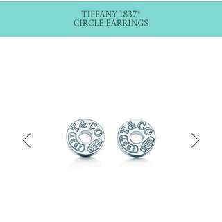 Authentic Tiffany 1837 Circle Earrings