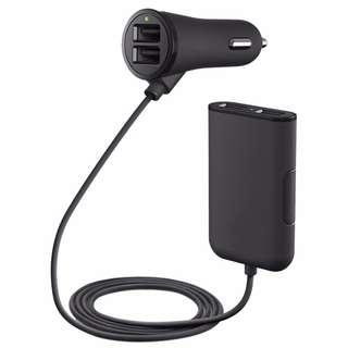 【40%】四孔擴充點菸器,可充平板跟筆電,USB擴充,4USB,車充,點菸器,擴充,點煙器