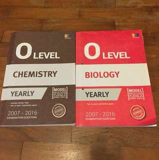 O Level Chemistry and Biology Yearly TYS