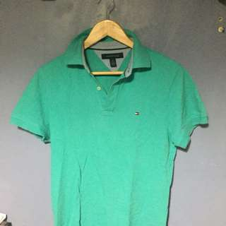 MENS TOMMY HILFIGER POLO SHIRT SIZE XS TEAL