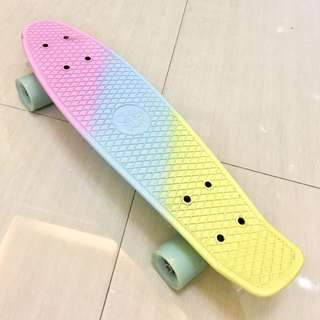CHASER RAINBOW PENNY BOARD with free knee, elbow, and wrist pads