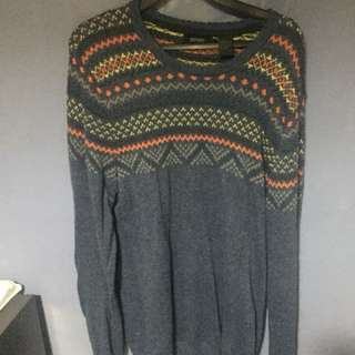 Oxford Knit Sweater Jumper Size L
