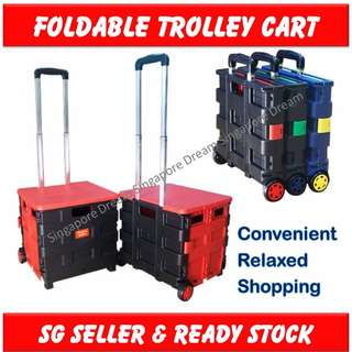 Multifunctional Foldable Trolley Cart with wheels / Portable Shopping Cart/ Utility wagon cart