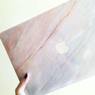 """全新粉紅雲石紋Macbook Air 13""""保護殼 保護套 超薄散熱 13吋case"""