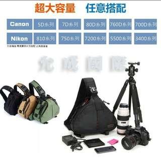 全新未拆封一機二鏡相機包-黑色
