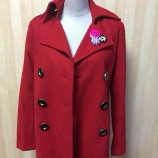 CECIL McBEE 紅色毛呢大衣 外套