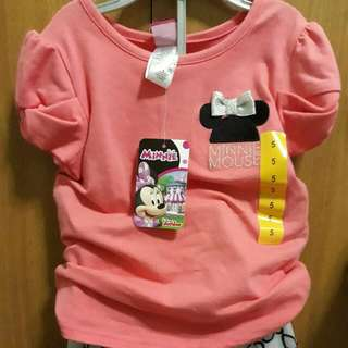 Minnie Mouse blouse and tutu skirt