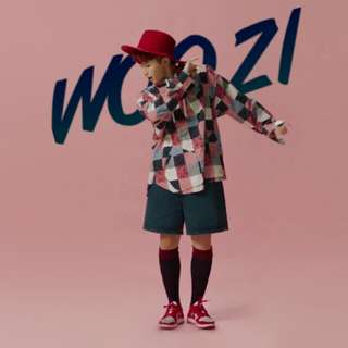 LF/WTB Woozi Teen Age Green Photocard