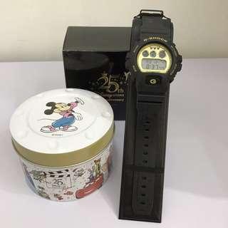 現貨全新 Casio G shock 日本限定 x Disney 迪士尼樂園25週年限量紀念版 DW-6900FS 全日本製造
