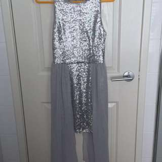 ⬇️Silver Sequin Lipsy Dress