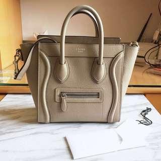 Celine luggage nano handbag