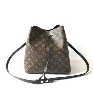 Last piece! GOOD DEAL! Ready NEW LV Neonoe monogram noir 2017 complete with strap, dustbag, booklet, tag, & no receipt @November 2017 ONLY IDR 13,5jta