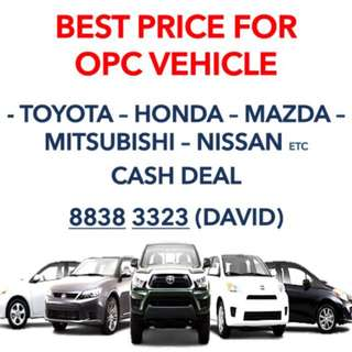 CASH Deal All Pre Owned OPC Cars And Commercial Vehicle Wanted