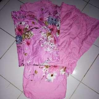 Mukena dewasa pink flower (sisa stock jualan)