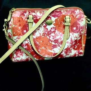 Coach floral printed handbag