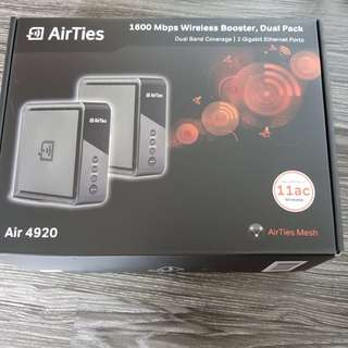 AirTies 1600mbps Dual Pack - Wirelrss Booster, Router