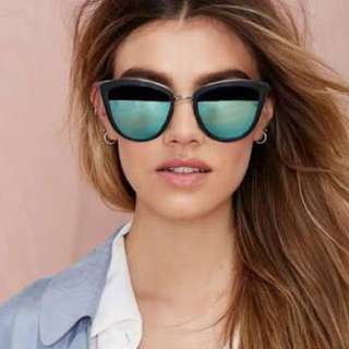 Quay My girl Blue Mirror Sunglasses