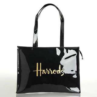 Big Zip Harrods Shopping Bag