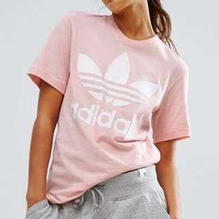 New packaged pink adidas tshirt