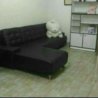L型皮沙發