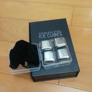 不銹鋼冰粒 stainless steel ice cubes, 4pcs