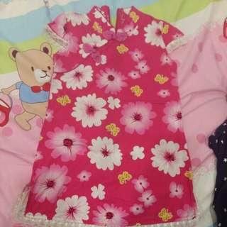 3 Yo girl floral cheongsam