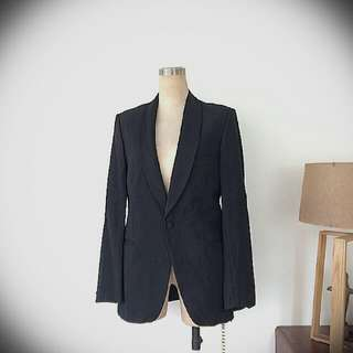 Vintage Tuxedo Satin Lapel Jacket Made In France 法國復古西裝褸 Tom Ford Style not Yves saint laurent ysl