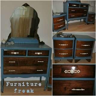 Refinished furniture set