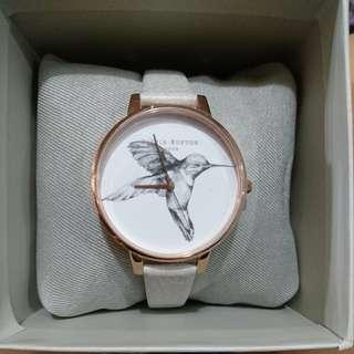 Oliver Burton 白色小鳥錶