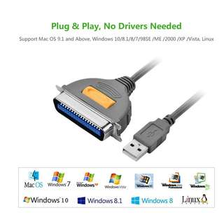 Ugreen USB to CN36 Parallel Printer Adapter Cable