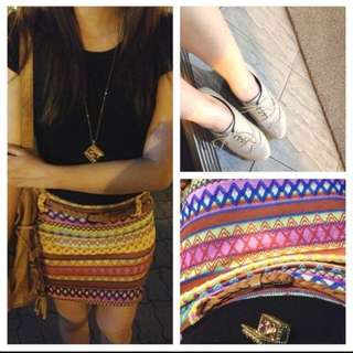 REPRICED Aztec Skirt
