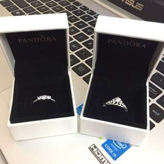 (STEAL 🔥) Pandora Fairytale Tiara Ring & Fairytale Sparkle Ring