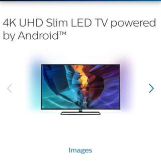 """Brand New Philips 50"""" 4K UHD Android Smart LED TV 50PUT6800 (sealed)"""
