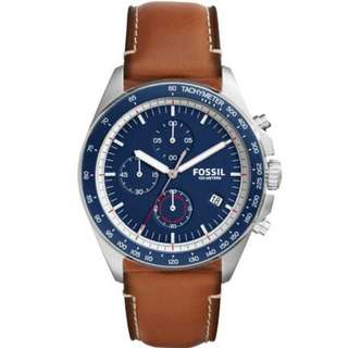 Fossil CH3039 Sport 54 Chronograph Leather Watch for Men
