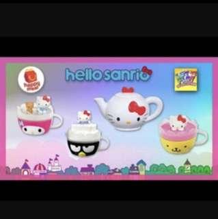 Hello kitty teapot toy full set