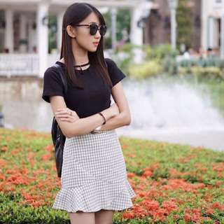 Black Top and skirt
