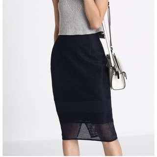 Love Bonito Navy Skirt