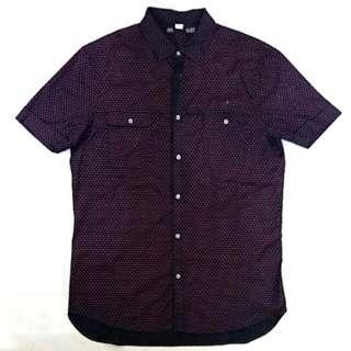 Diesel Black Orange Print Shirt Size Large