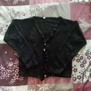 Cardigan / Jaket / Sweater Rajut Hitam
