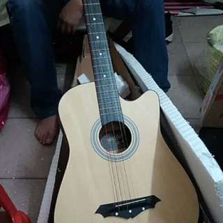 Wooden craft single guitar 38 inches