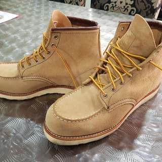 Red wings boots (Authentic-Sand Mohave Leather)