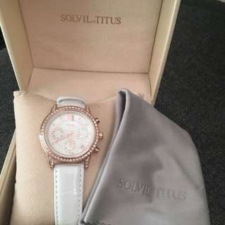🈹 鐵達時 SOLVIL et TITUS 皮帶腕錶