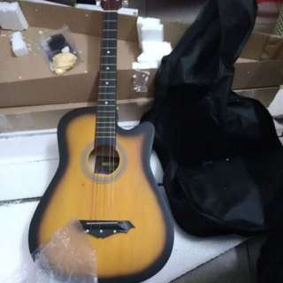 "Wooden craft single guitar 38"" inches"