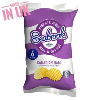 Seabrook Canadian Ham Crinkle Cut Crisps (6 Pack)