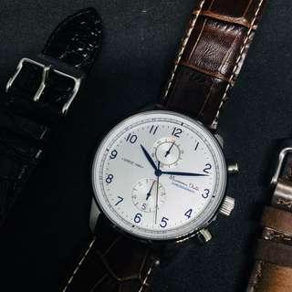 Massimo Dutti Classic Geometric Watch Jam Tangan Pria