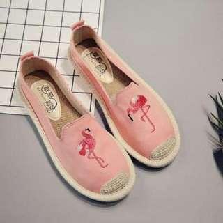 平底繡花 草編鞋